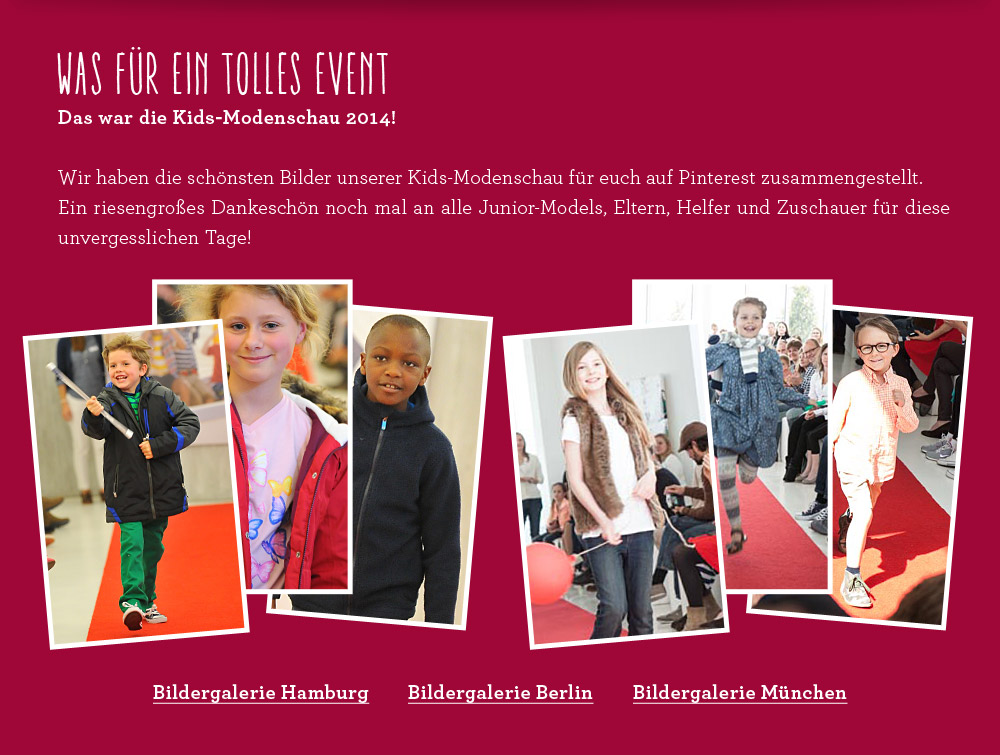 Lands' End - Kids Modenschau 2014 - Models gesucht, Termine und Locations