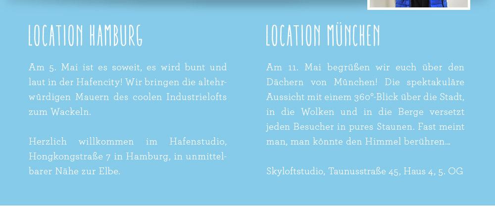 Lands' End - Kids Modenschau 2014 - Die Locations