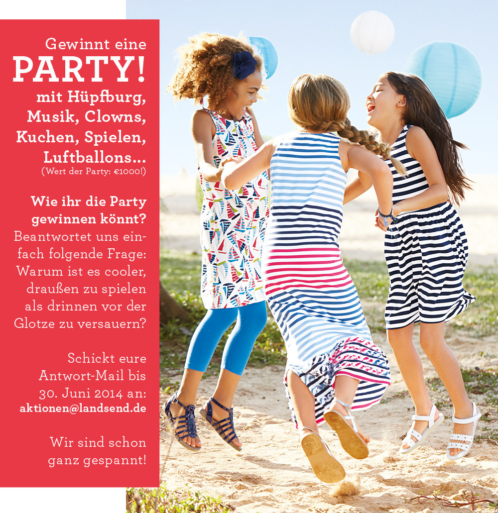 Lands' End Kids Geburtstagsparty