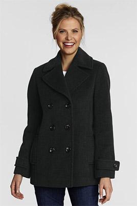 Luxe-Cabanjacke aus edlem Wollmix für Damen