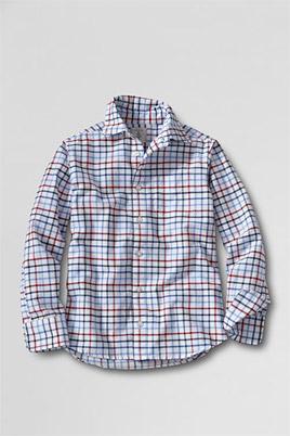 Oxford-Hemd mit langen Ärmeln für kleine Kinder